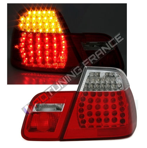 2 FEUX ARRIERE LED LOOK M3 BMW SERIE 3 E46 BERLINE PHASE 2 DE 10  6b715259758a