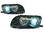 2 FEUX PHARE AVANT ANGEL EYES BMW SERIE 3 E46 BERLINE PHASE 1 AU XENON + 2 CLIGNOTANT
