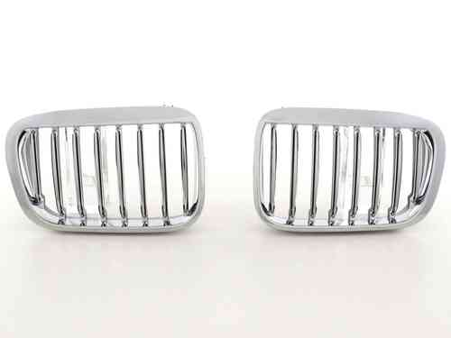 2 GRILLE DE CALANDRE CHROME BMW E46 SERIE 3 BERLINE PHASE 1 98-01