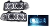 2 FEUX AVANT ANGEL EYES BMW SERIE 3 E36 AU VRAI XENON CHROME BERLINE
