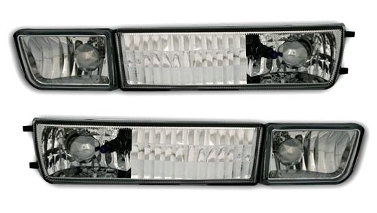 2 clignotant antibrouillard de pare choc chrome pour vw. Black Bedroom Furniture Sets. Home Design Ideas