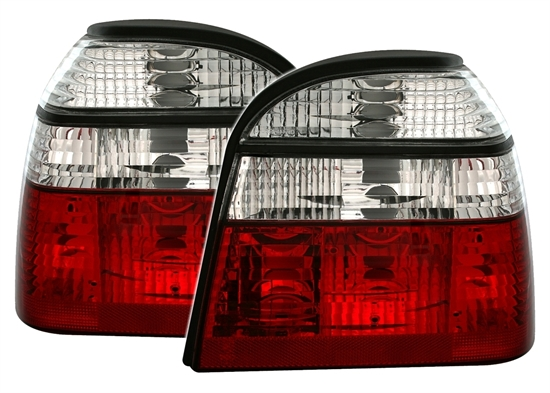 2 phare feux arriere look gti vw golf 3 tdi td d vr6 mk3 cabriolet rouge chrom ebay. Black Bedroom Furniture Sets. Home Design Ideas