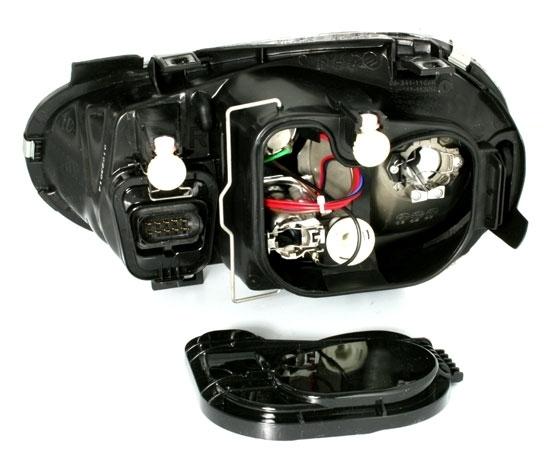 2 feux phare avant pour vw golf 4 a fond noir avec antibrouillard ebay. Black Bedroom Furniture Sets. Home Design Ideas