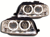 2 FEUX PHARE AVANT ANGEL EYES CHROME POUR AUDI A3 8P 2003 A 2008