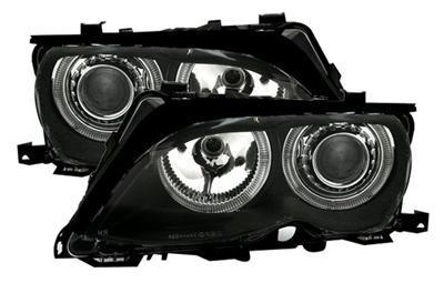 2 FEUX PHARE AVANT ANGEL EYES POUR BMW SERIE 3 E46 BERLINE PHASE 2 DE 10/2001 A 2005