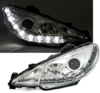 2 FEUX PHARE AVANT DEVIL EYES LED CHROME PEUGEOT 206 PHASE 1