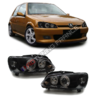 2 FEUX PHARE AVANT ANGEL EYES FOND NOIR PEUGEOT 106 PHASE 2 DE 06/1996 A 2003