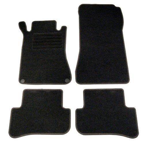 4 tapis de sol mercedes classe c w203 de 2000 a 2007 sur mesure en velours adtuning france. Black Bedroom Furniture Sets. Home Design Ideas