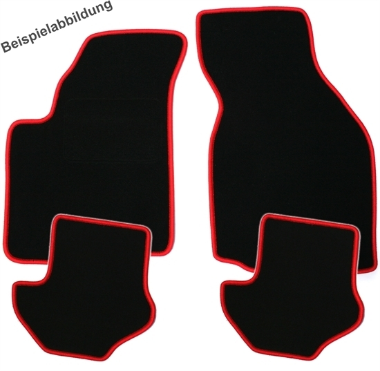 4 tapis de sol entourage rouge pour bmw serie 3 e36 berline coupe cabriolet sur mesure. Black Bedroom Furniture Sets. Home Design Ideas