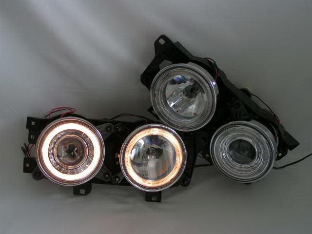 2 Feux Phare Avant Angel Eyes Chrome Pour Bmw Serie 3 E30