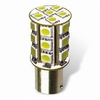 1 AMPOULE P21/5W A 24 LED POWERCHIP SMD 72 POINTS LUMINEUX - BLANC XENON