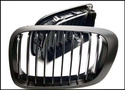 2 GRILLE DE CALANDRE NOIR BMW E46 SERIE 3 BERLINE + TOURING BREAK PHASE 1 98-01