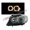 2 FEUX PHARE AVANT ANGEL EYES NOIR BMW SERIE 3 E90 E91 PHASE 1 DE 12/2004 A 08/2008