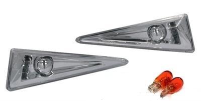 2 clignotant repetiteur d 39 aile chrome pour renault megane 2 2 ampoules adtuning france. Black Bedroom Furniture Sets. Home Design Ideas