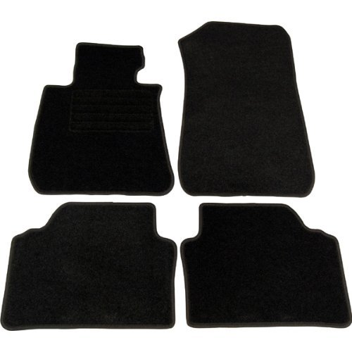 4 tapis de sol pour bmw serie 1 e81 e87 3p et 5p en velours noir adtuning france. Black Bedroom Furniture Sets. Home Design Ideas