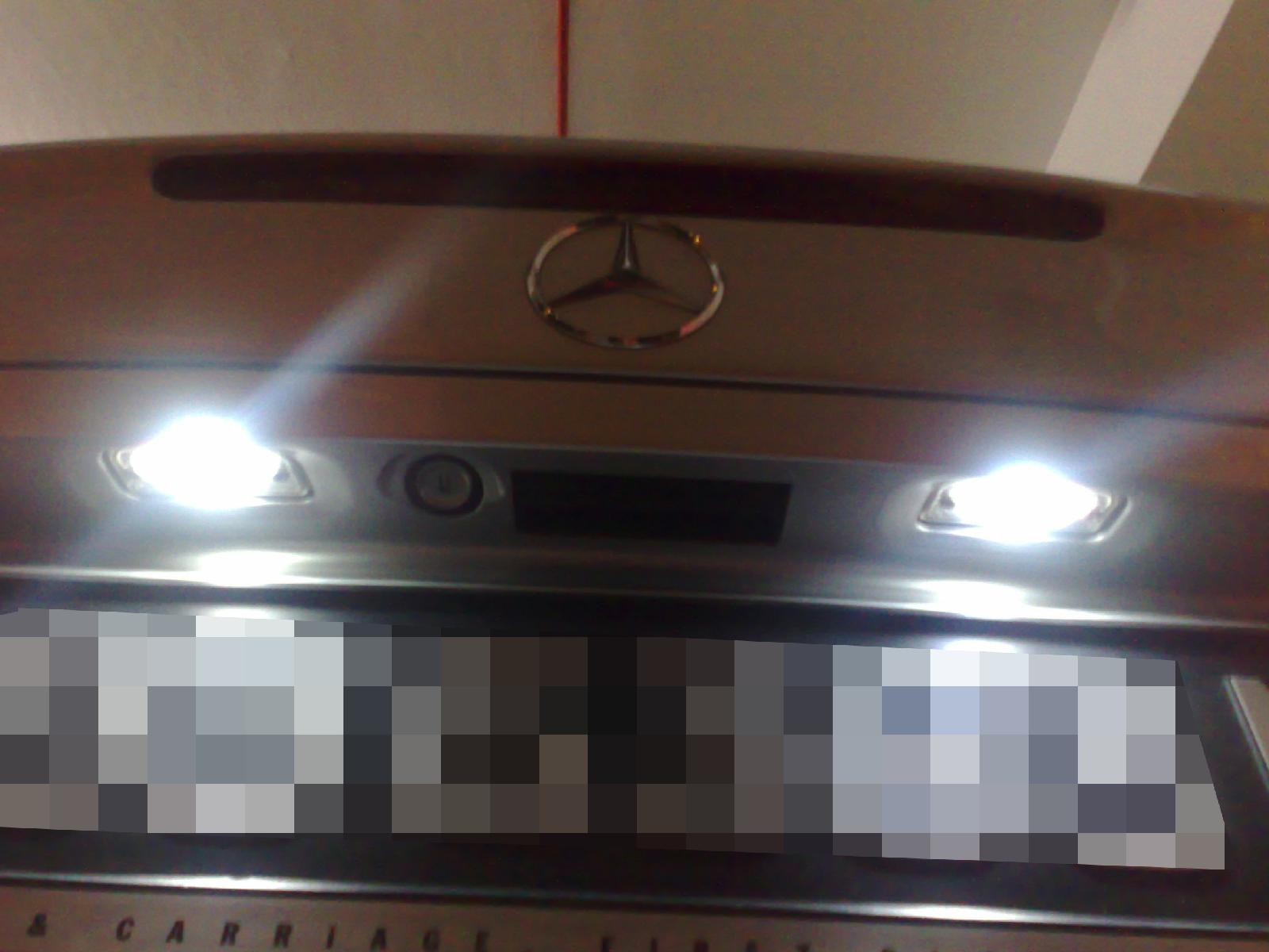 Set 18 led interieur exterieur blanc xenon pour mercedes for Interieur exterieur