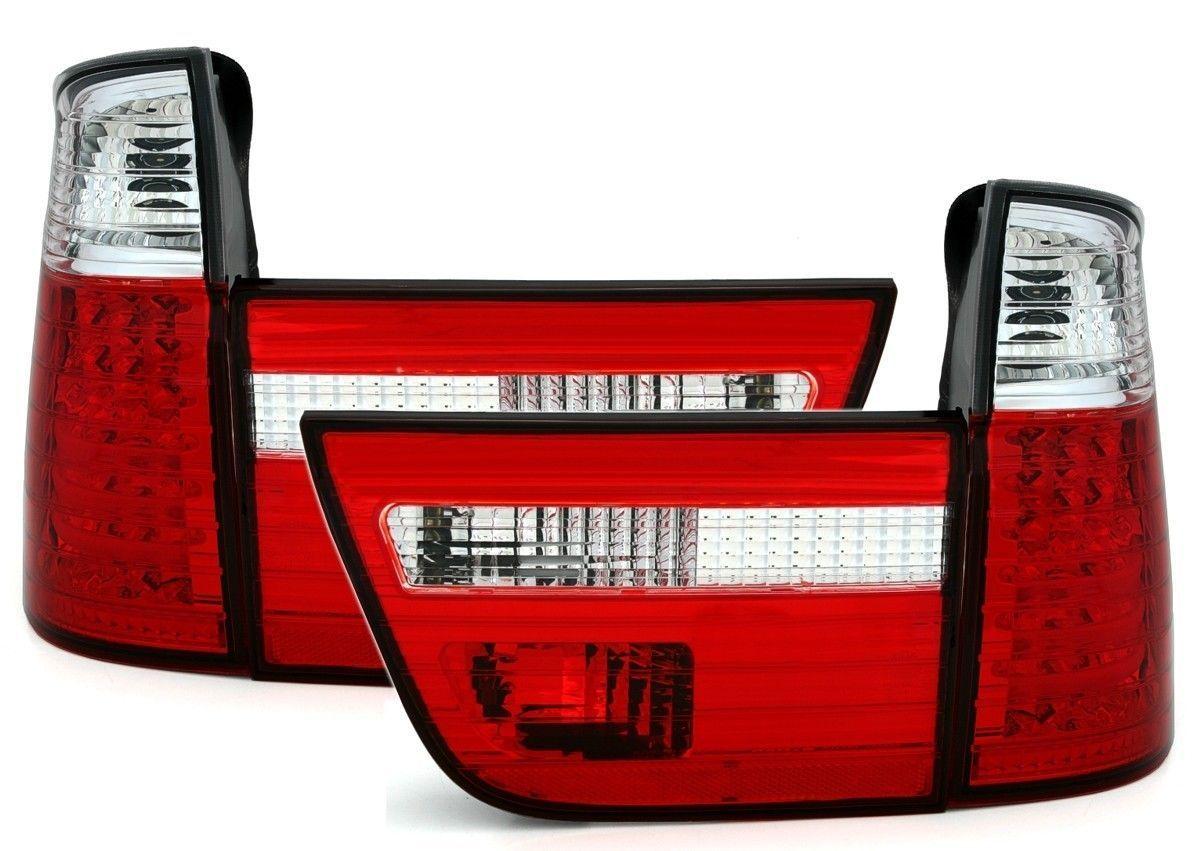 2 feux arriere a led bmw x5 e53 blanc et rouge phase 1. Black Bedroom Furniture Sets. Home Design Ideas