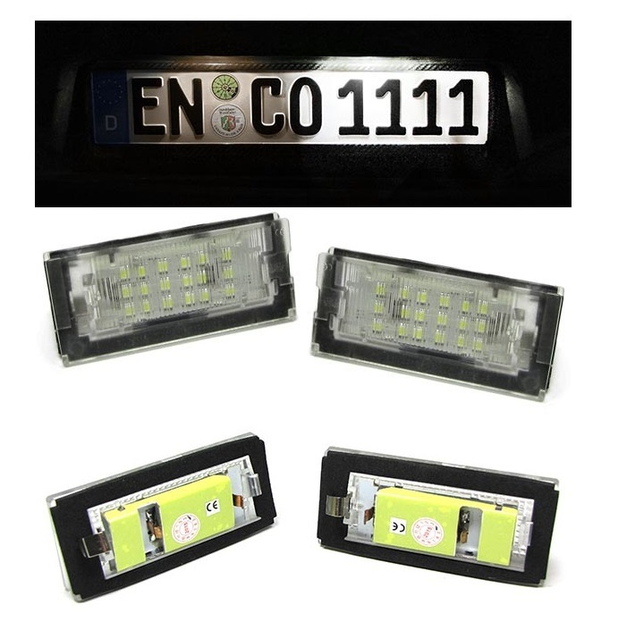 2 Eclairage Plaque Immatriculation A 18 Led Smd Bmw Serie 3 E46