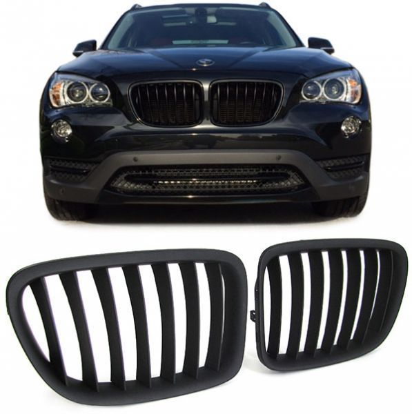 2 grille calandre m noir bad look bmw x1 e84 2009 2014 adtuning france. Black Bedroom Furniture Sets. Home Design Ideas