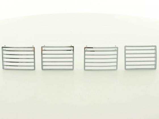 4 grille aerateur de ventilation chrome pour peugeot 307 tout modeles hdi cc et sw adtuning france. Black Bedroom Furniture Sets. Home Design Ideas