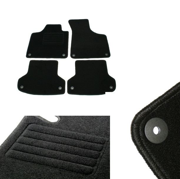 4 tapis de sol en velour sur mesure pour audi a3 8p et sportback avec systeme fixation. Black Bedroom Furniture Sets. Home Design Ideas