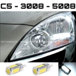 2 HP24 LED BULB FOR CITROEN C5 / PEUGEOT 3008 / 5008