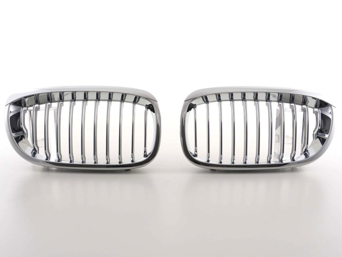 2 grille de calandre chrome bmw e46 serie 3 coupe facelift de 04 03 a 2006 adtuning france. Black Bedroom Furniture Sets. Home Design Ideas