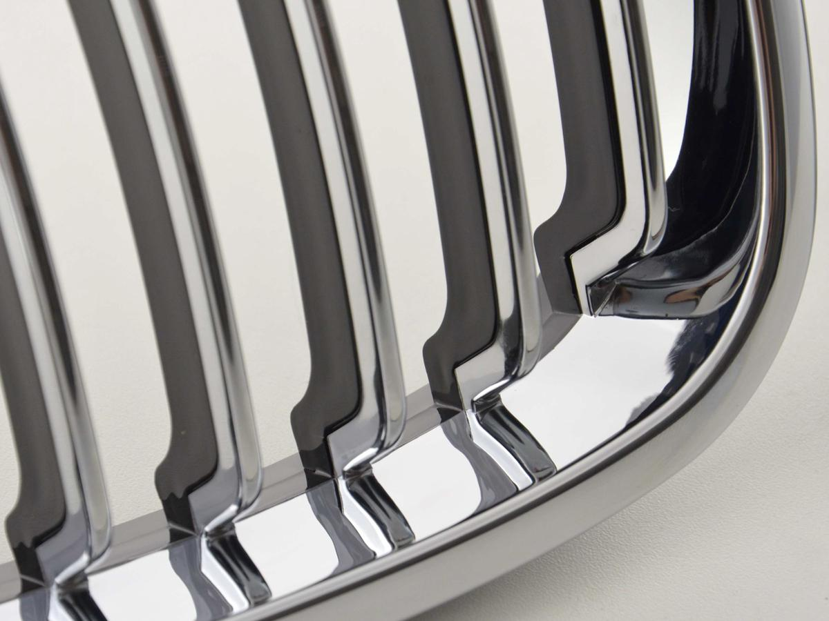 2 GRILLE CALANDRE CHROME BMW SERIE 3 E46 COUPE PHASE 2 04//2003 A 2006
