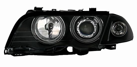 optiques phares feux avant bmw serie 3 e46 berline phase 1 ccfl blanc 320d 330d ebay. Black Bedroom Furniture Sets. Home Design Ideas