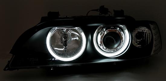 2 feux phare avant angel eyes ccfl blanc bmw serie 5 e39 phase 1 95 a 2000. Black Bedroom Furniture Sets. Home Design Ideas