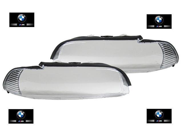 2 vitre phare avant clignotant blanc bmw serie 5 e39 phase 2 09 2000 a 06 2003 ebay. Black Bedroom Furniture Sets. Home Design Ideas