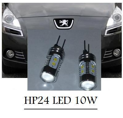 2 ampoule hp24 led 10w surpuissante pour feux de jour diurne citroen c5 ou peugeot 3008. Black Bedroom Furniture Sets. Home Design Ideas