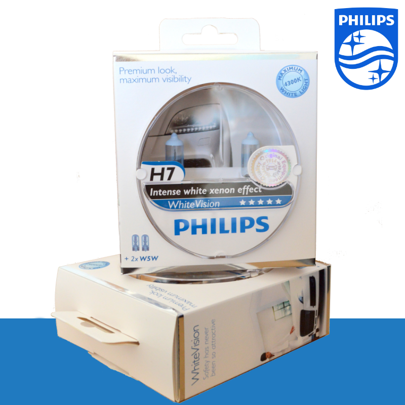 2 ampoule h7 w5w philips white vision xenon 4300k bmw serie 3 5 e36 e46 e60 ebay. Black Bedroom Furniture Sets. Home Design Ideas