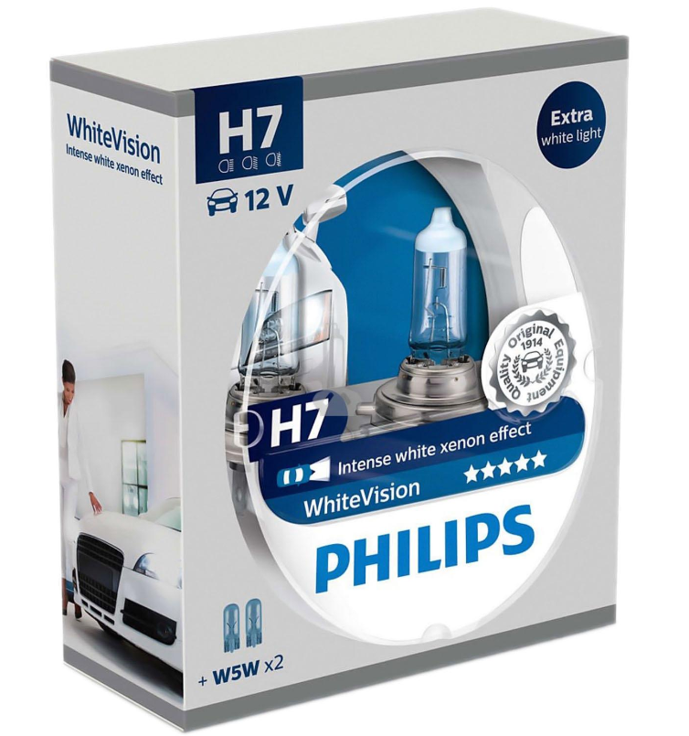 2 ampoule h7 12v 55w philips intense white xenon effect. Black Bedroom Furniture Sets. Home Design Ideas