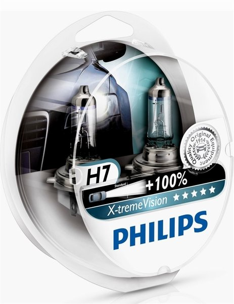 2 ampoule h7 12v 55w philips x treme vision extreme 100 ebay. Black Bedroom Furniture Sets. Home Design Ideas