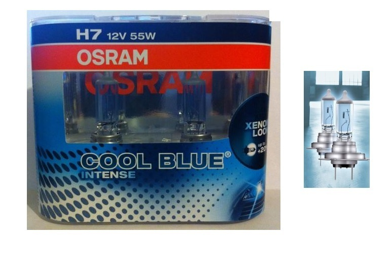 2 ampoule h7 12v 55w osram cool blue intense xenon look 4200k ebay. Black Bedroom Furniture Sets. Home Design Ideas