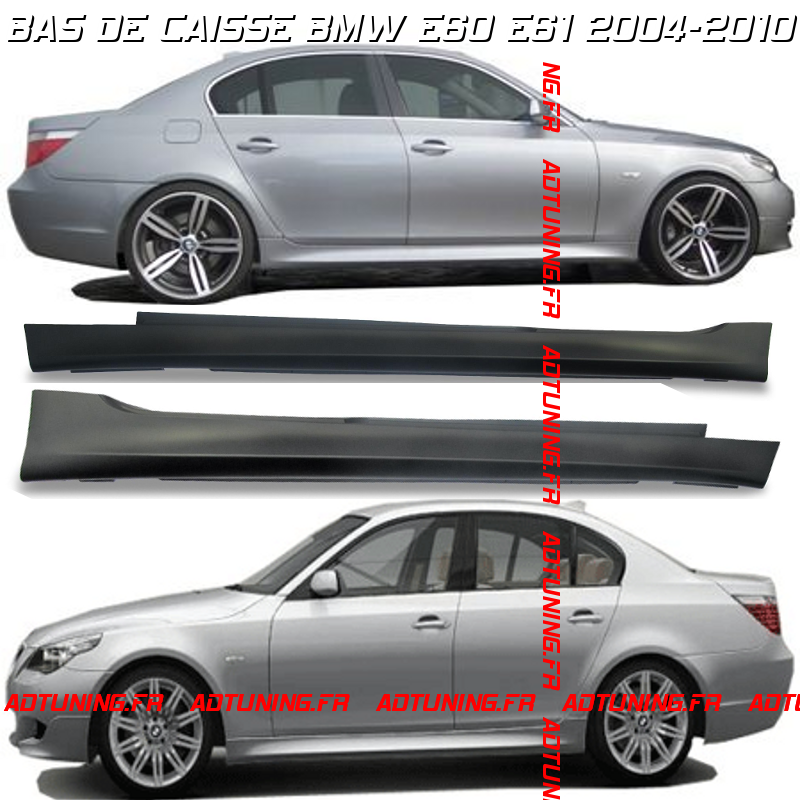 2 bas de caisse pack m m5 en abs bmw serie 5 e60 et e61. Black Bedroom Furniture Sets. Home Design Ideas