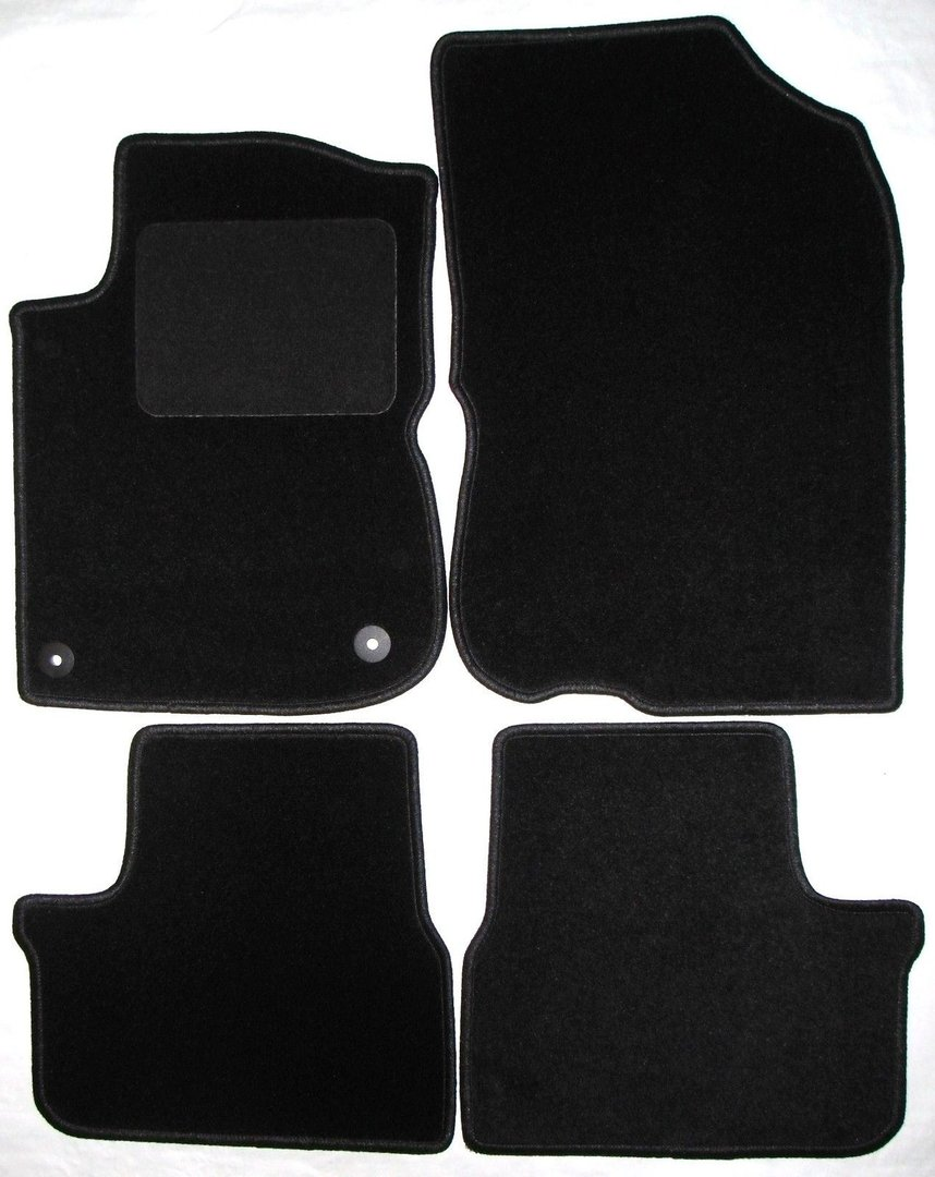 4 tapis de sol sur mesure en velour noir pour peugeot 208. Black Bedroom Furniture Sets. Home Design Ideas