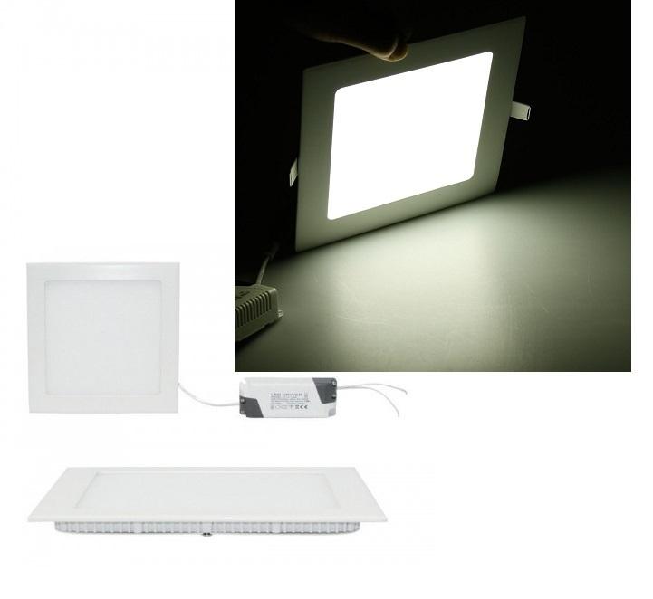 spot panel square design encastrable blanc froid ampoule. Black Bedroom Furniture Sets. Home Design Ideas