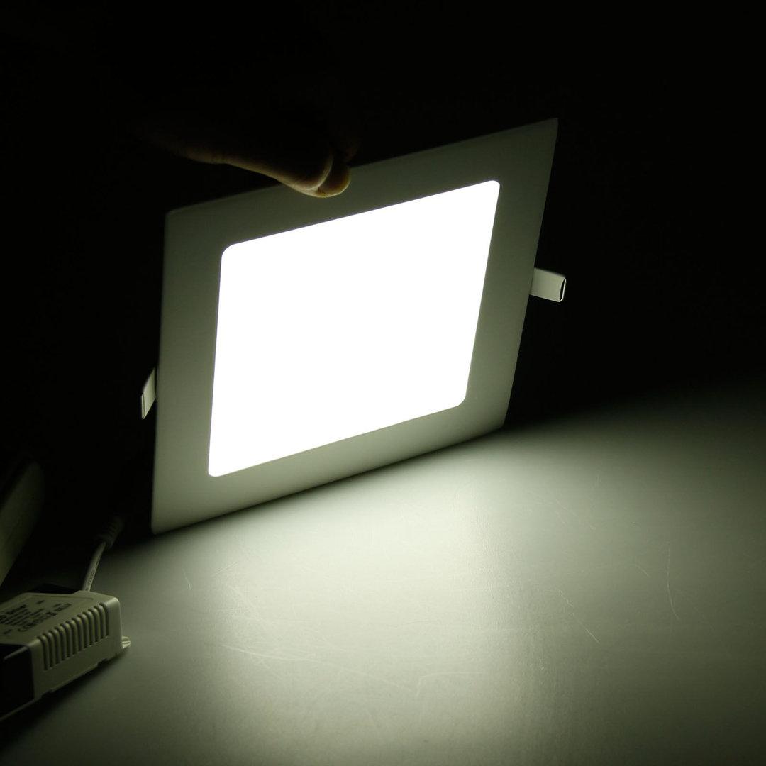 spot square design encastrable blanc froid ampoule led 9w transformateur adtuning france. Black Bedroom Furniture Sets. Home Design Ideas