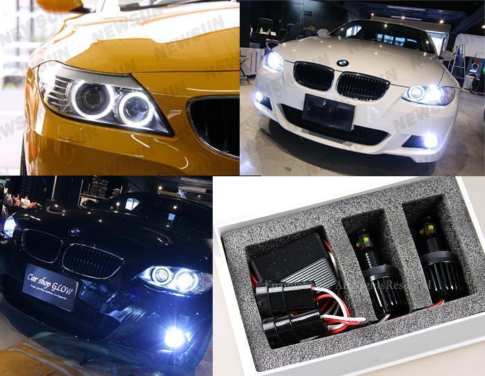 kit angel eyes led h8 40w bmw serie 1 phase 2 e81 e82 e87. Black Bedroom Furniture Sets. Home Design Ideas