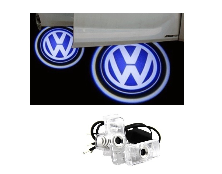 2 pico projecteur led logo vw pour touareg 2002 a 2010 ebay. Black Bedroom Furniture Sets. Home Design Ideas