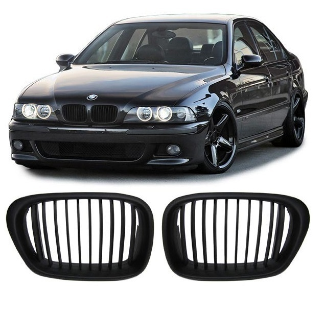 2 grille de calandre noir bad look bmw serie 5 e39 phase 1. Black Bedroom Furniture Sets. Home Design Ideas