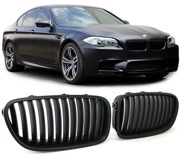 2 grille de calandre noir mat bmw serie 5 f10 f11 adtuning france. Black Bedroom Furniture Sets. Home Design Ideas