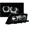 2 FEUX PHARE AVANT ANGEL EYES LED BMW SERIE 3 E46 BERLINE TOURING PHASE 2 DE 10/2001 A 03/2005