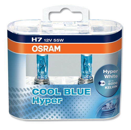 2 ampoule h7 12v 55w osram cool blue hyper xenon look 5000k adtuning france. Black Bedroom Furniture Sets. Home Design Ideas
