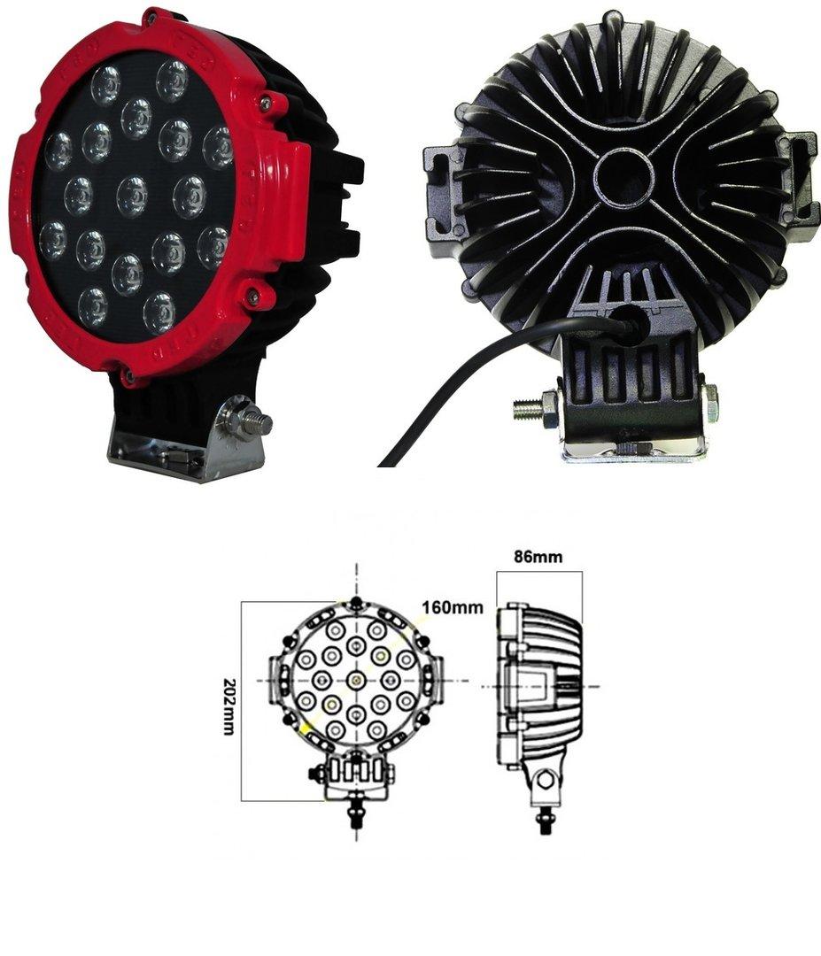 1 projecteur led tres puissant 51w 3570 lumens fonctionne de 9v a 30v adtuning france. Black Bedroom Furniture Sets. Home Design Ideas
