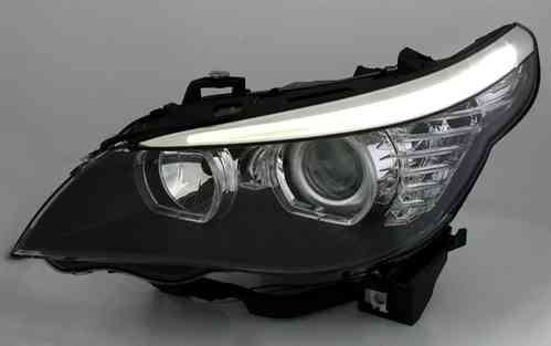2 feux phare avant xenon angel eyes led bmw serie 5 e60. Black Bedroom Furniture Sets. Home Design Ideas