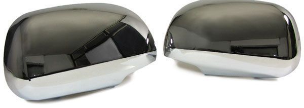2 coque retroviseur chrome toyota rav 4 2006 a 2009 ebay. Black Bedroom Furniture Sets. Home Design Ideas
