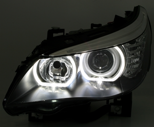 Nouveau 2015 2 Feux Phare Avant Xenon Angel Eyes Led Bmw